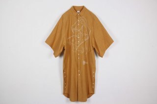Blur Roll Over Shirt / orange