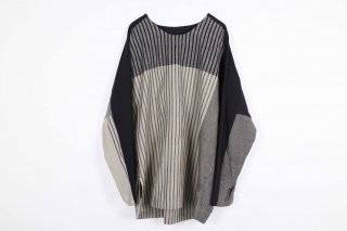 Stripe KnadiCotton merge Pullover