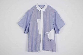 Half_Sleeve_Organ_Shirt / blue