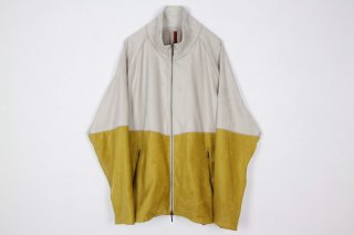 Suede Jarsey Suits / white × yellow