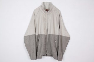Suede Jarsey Suits / white×gray