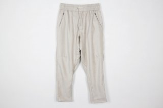 Suede Jarsey Pants / white