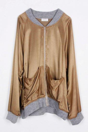 POTTO / zip up blouson / beige