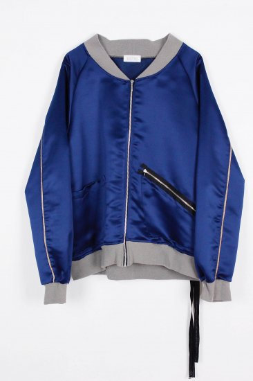 POTTO / zip up blouson / blue