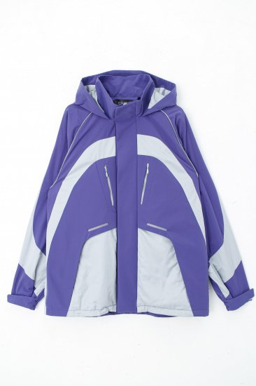 Y2Kジャケット/バイオレット×シルバー