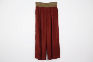 Suede Jarsey Wide Pants / red