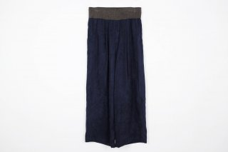 Suede Jarsey Wide Pants / navy
