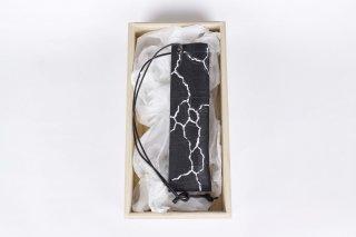 壁花器/黒亀裂