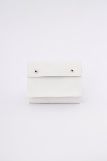 三つ折り豆財布 / wh