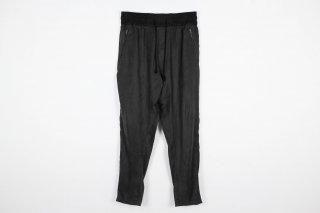 Suede Track Pants / charcoal