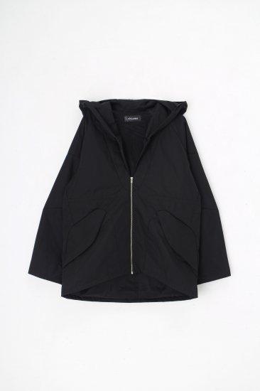 chloma / セイラーフードジャケット / ブラック<br>※予約商品の為、備考欄を必ずご確認ください。