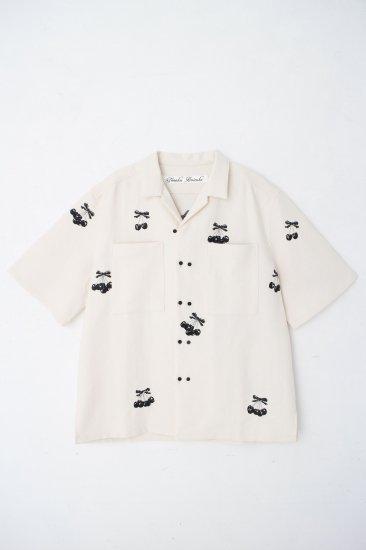 Black  Cherry 刺繍シャツ