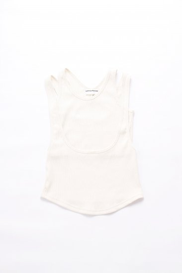 kotohayokozawa / double tank top/white