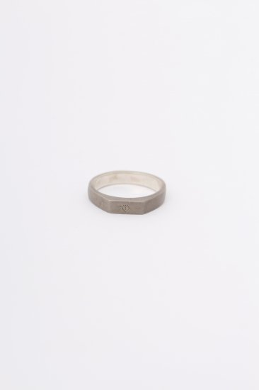 TABOO / Logo Mark stand Ring  / Silver