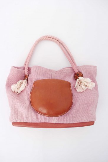 eatable many orders / Soft Sashiko Tote bag / pink