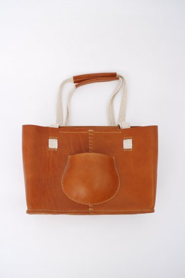 eatable many orders / POCKET TOTE BAG / BROWN