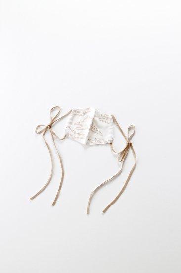 ウチノマスク / 晴れ間 刺繍マスク/ リボン