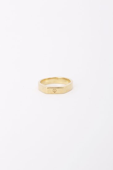 TABOO / Logo Mark stand Ring  / gold