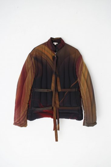 MASU/ MARBLE PRINT DOWN JACKET /RED MARBLE