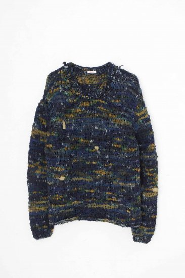MASU/ PRAYER'S SILK SWEATER /BLUE MARBLE