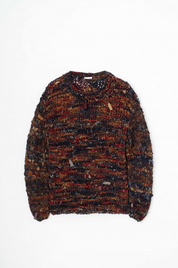 MASU/ PRAYER'S SILK SWEATER /RED MARBLE