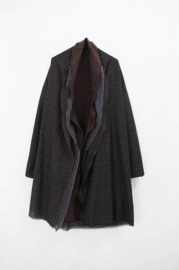 MITTAN / 三重織綿絹毛麻ジャケット / 茶がさね