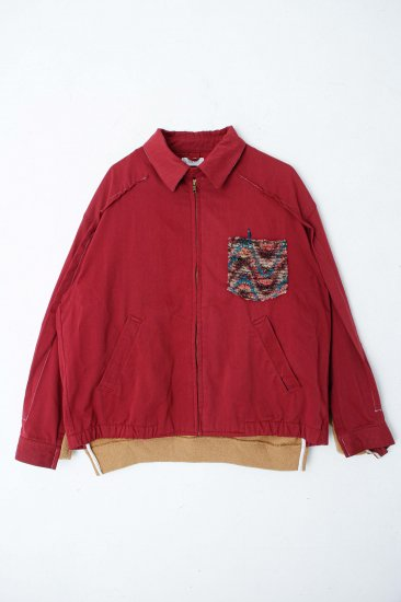 POTTO / custom jacket / red beige