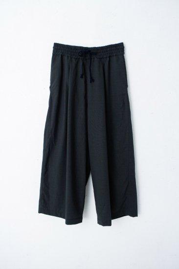 YANTOR / Torowool  straight wide slacks/green
