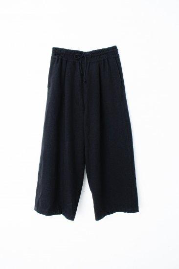 YANTOR / stone nap straight wide slacks / black