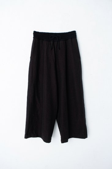 YANTOR / stone nap straight wide slacks / brown
