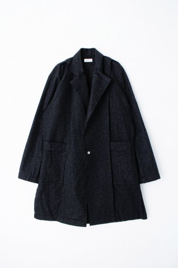 POTTO  / wool coat / bk