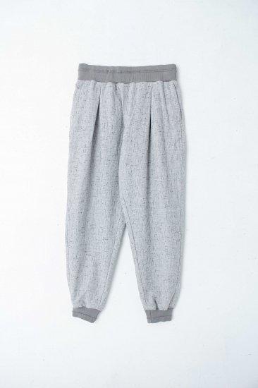 YANTOR / Stone Nep Cotton Rib Pants /wh
