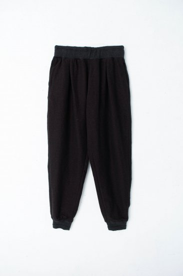 YANTOR / Stone Nep Cotton Rib Pants /brown