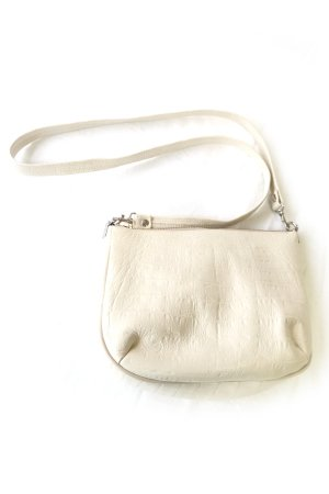 XTS White Shoulder Leather Bag(GOLD×SILVER)