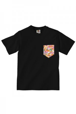 Lovebite Clothing Pocket Tee Candy Hearts (Black)