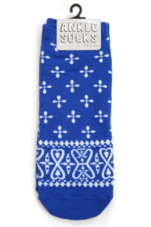 Mens Ankle Socks (Bandana Navy)