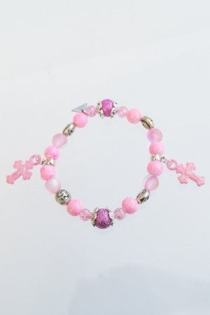 XTS Dragon Cross Pink Bracelet