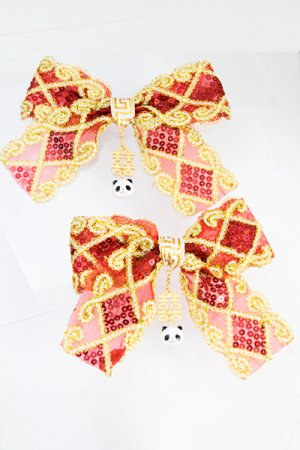 XTS China Ribbon Hair Clip Set 15