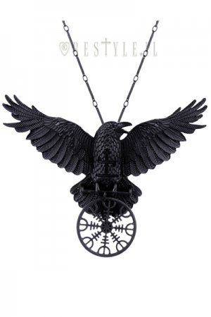RESTYLE HELM OF AWE RAVEN PENDANT