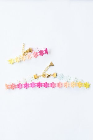 XTS Flower Lace Choker & Bracelet(Colorful)