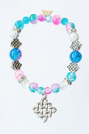 XTS Waffle Bracelet(Pink & Blue)