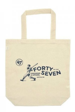 '47 Forty Seven Logo Print Cotton Tote