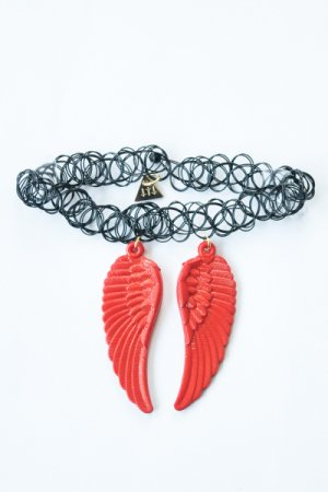 XTS Wings Tattoo Necklace (Red)