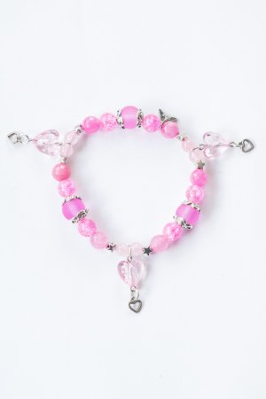 XTS Crystal Heart Bracelet (Light Pink)