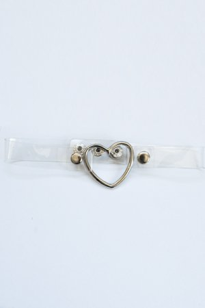 Vinyl Heart Choker (Clear)