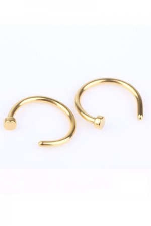 2pcs Mini Fake Pierce (Gold)