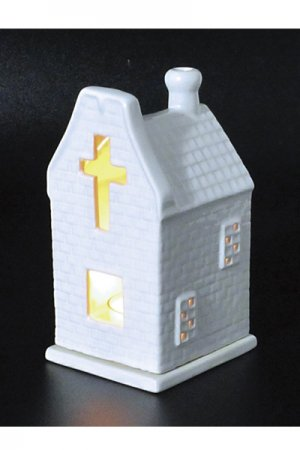 Church Aroma Candle Pot (White)