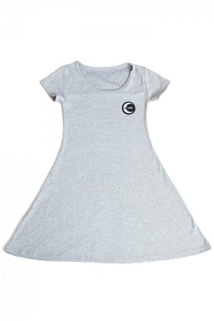 XTS Moon Circle Patch Mini Dress (Light Gray)