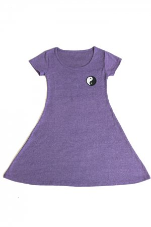 XTS Yin And Yang Patch Mini Dress (Purple)