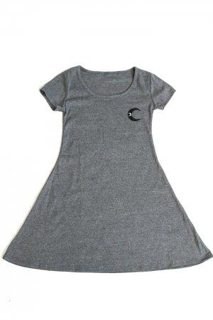 XTS Moon Patch Mini Dress (Dark Gray)